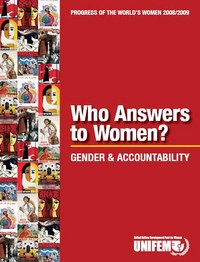 portada Progress of the world's women 2008 - 2009. Who answers to women? Gender and accountability
