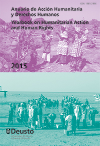 portada Anuario de Acción Humanitaria y Derechos Humanos 2015 = Yearbook on Humanitarian Action and Human Rights 2015